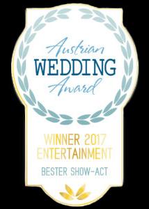 Gewinner - Bester Show Act für Hochzeiten in Österreich