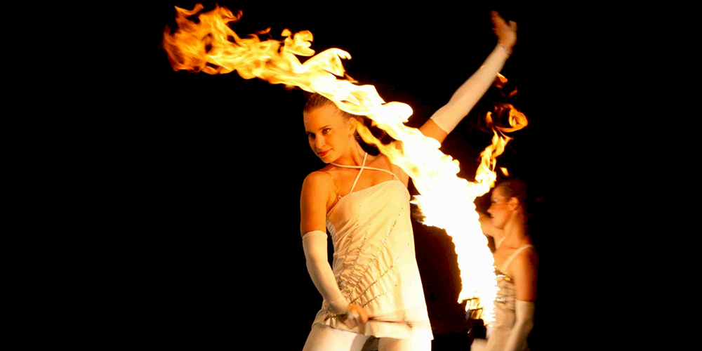 Eleganz der Flammen
