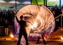 Feuershow im Museum Niederösterreich