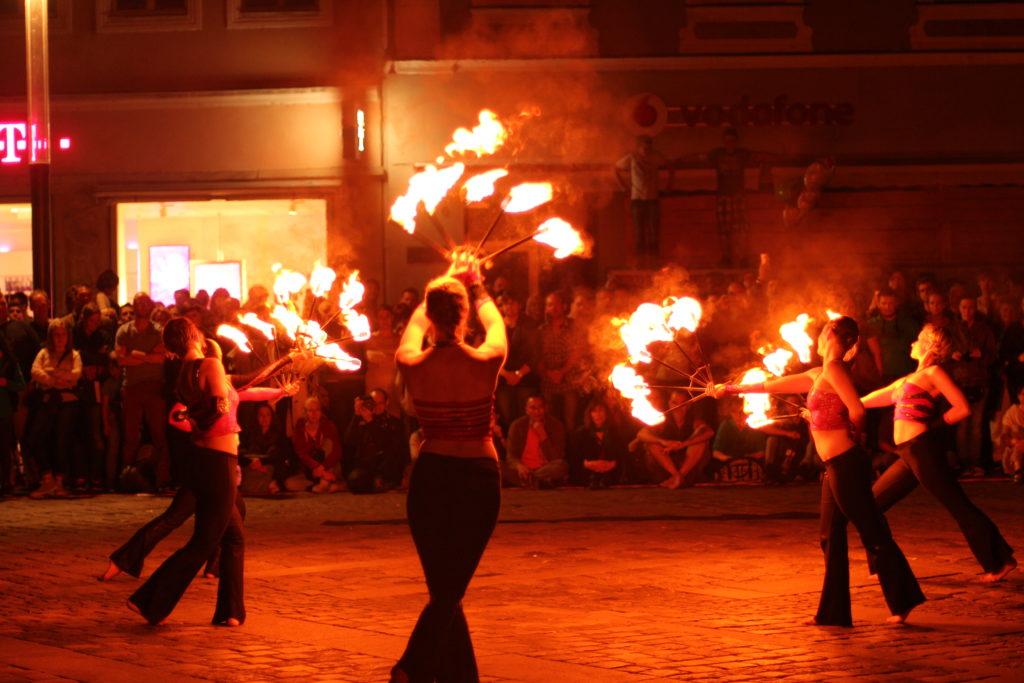 Bamberg zaubert Feuershow