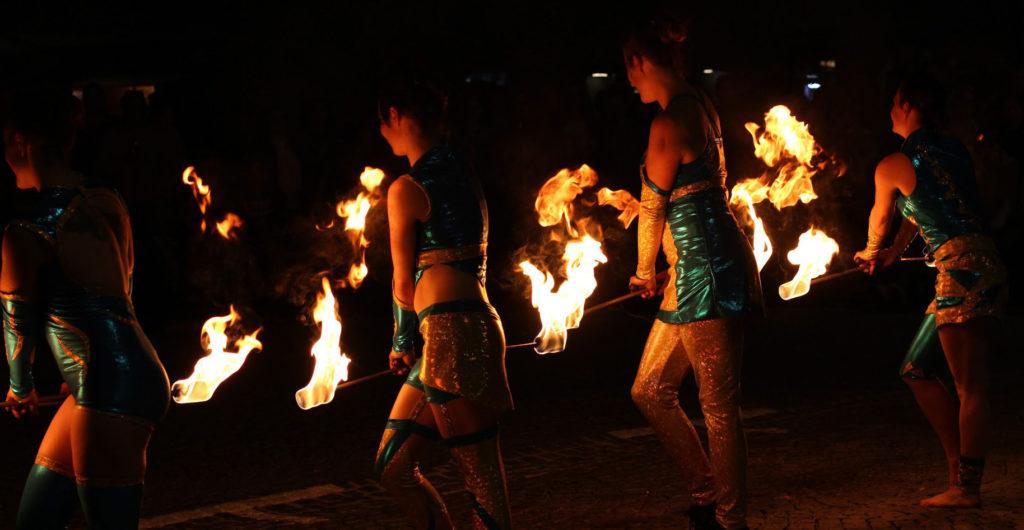 Feuershow in Freistadt - Sommer 2017