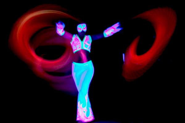 Blacklight Show - Schwarzlicht Performance